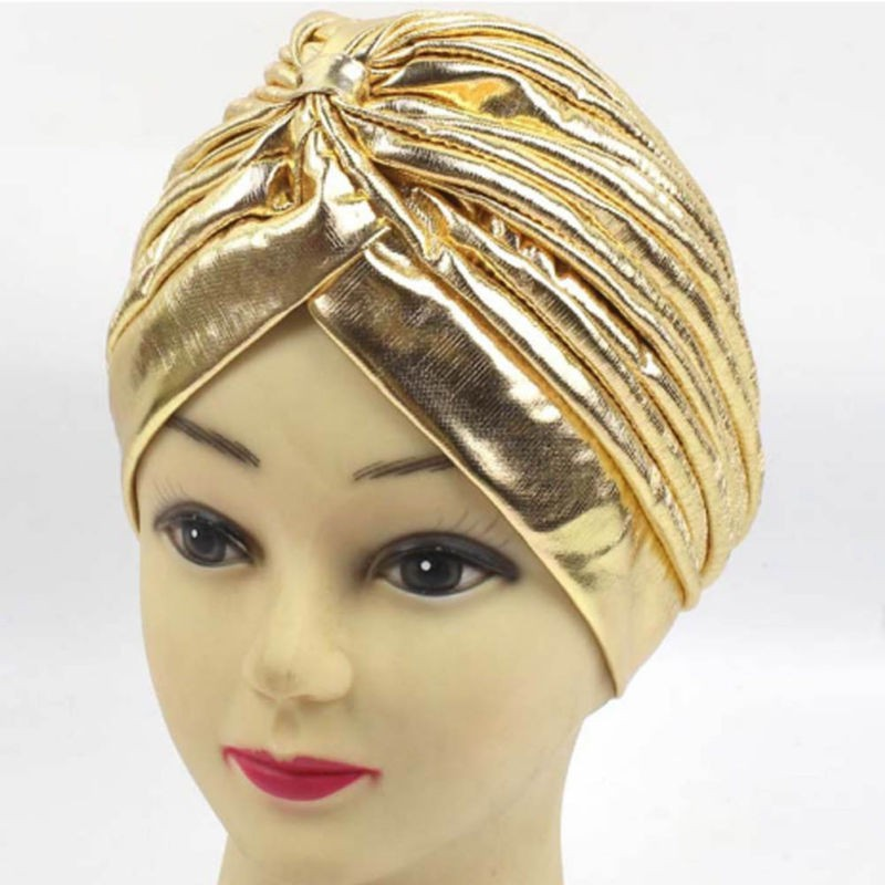 26ace9c5 Womens Mens Indian Turban Hat Head Wrap Stretchable Chemo Pleated Hijab Cap  New