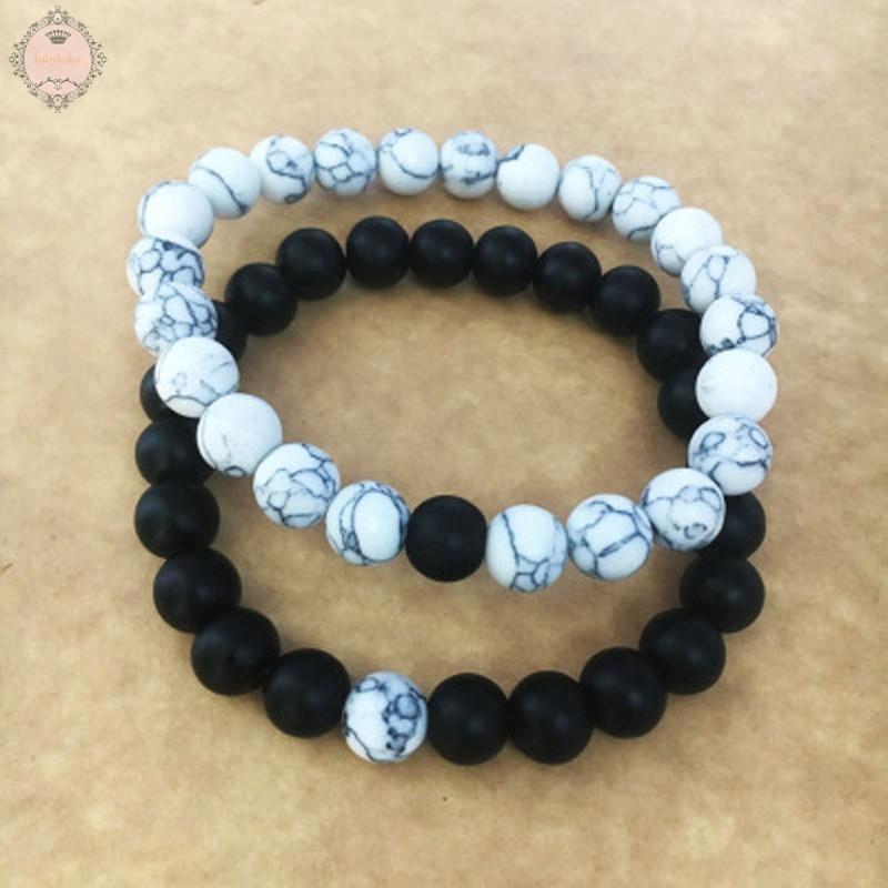 8mm Artificial Lava Stone Chakra Beads Couple Lover Fashion Bracelet Jewelry Kit