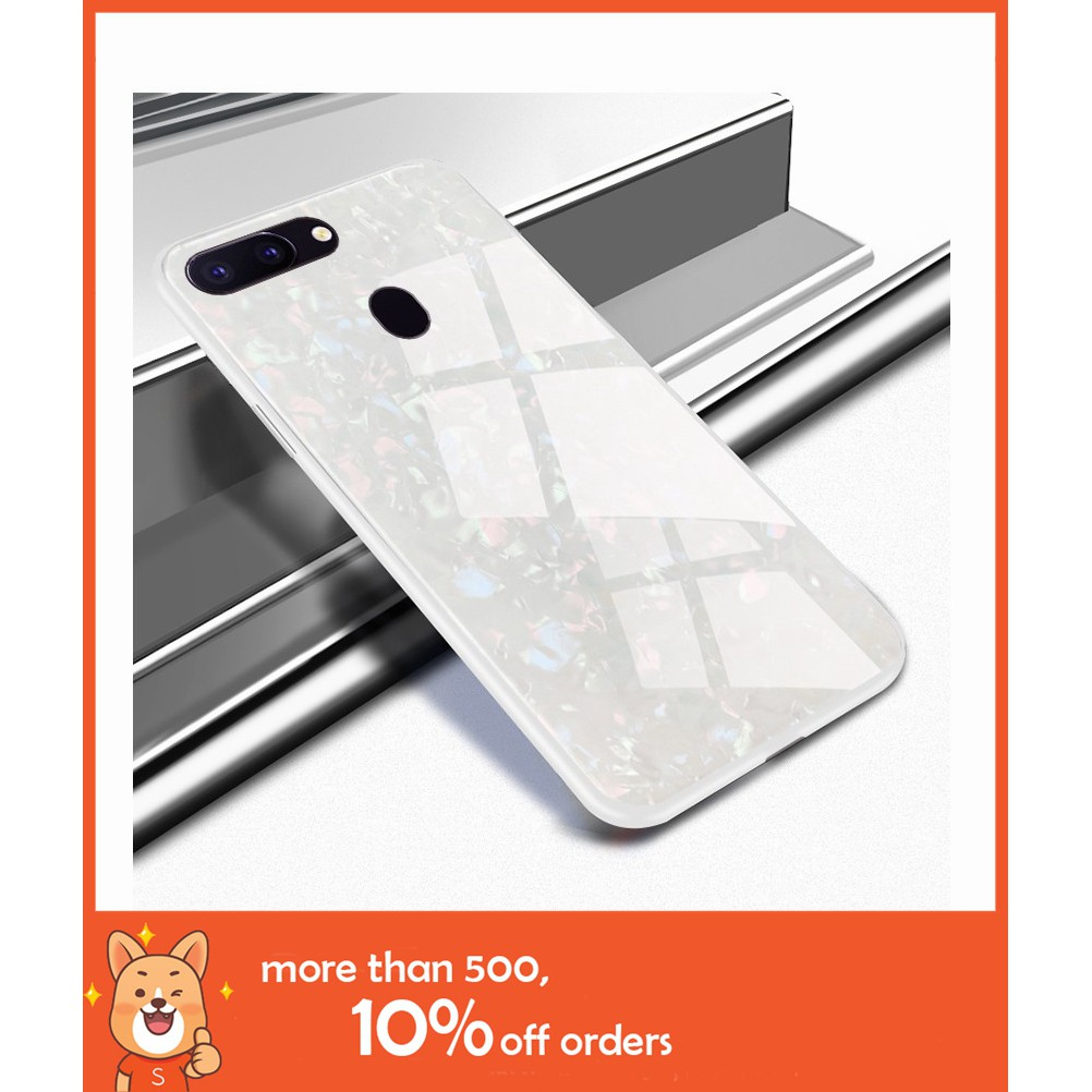 Case OPPO F9 F7 F5 A3S A83 Luxury fashion marbling glass phone casing
