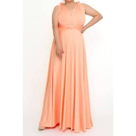 Infinity Dress KIDS/ADULT/PLUS SIZE (Peach)