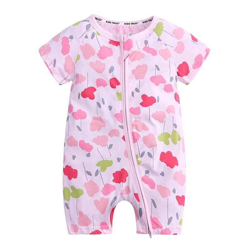 Baby Girls Toddler Infant Cute Flower Short Sleeve Dress Cotton Dress 17 Colors