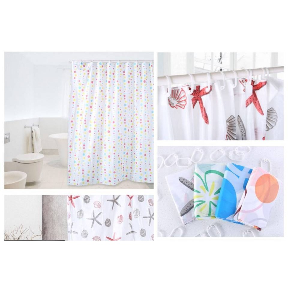 Waterproof Bathroom Shower Curtain Uni-angle Animal And Cat Pattern Polyester Fabric With 12 Hooks 150x180cm Quality Pretty And Colorful Shower Rooms & Accessories