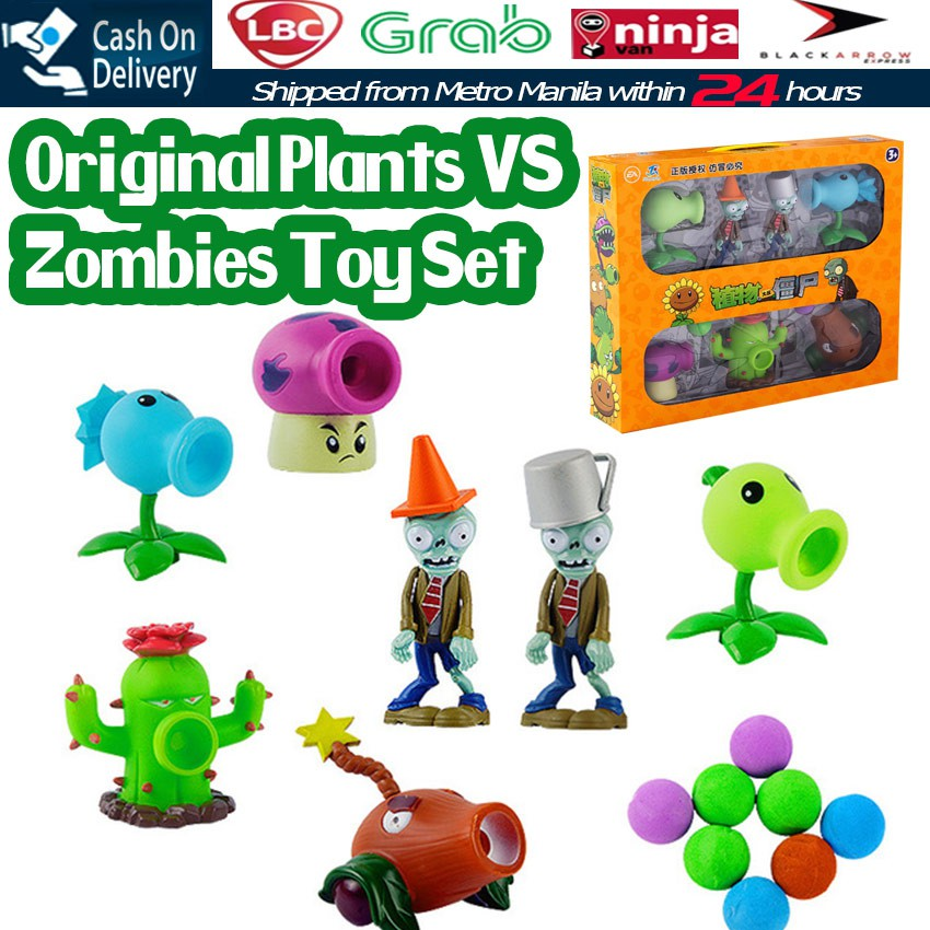 1 Set PVZ Plants VS Zombies Peashooter Zombies Figures Toys