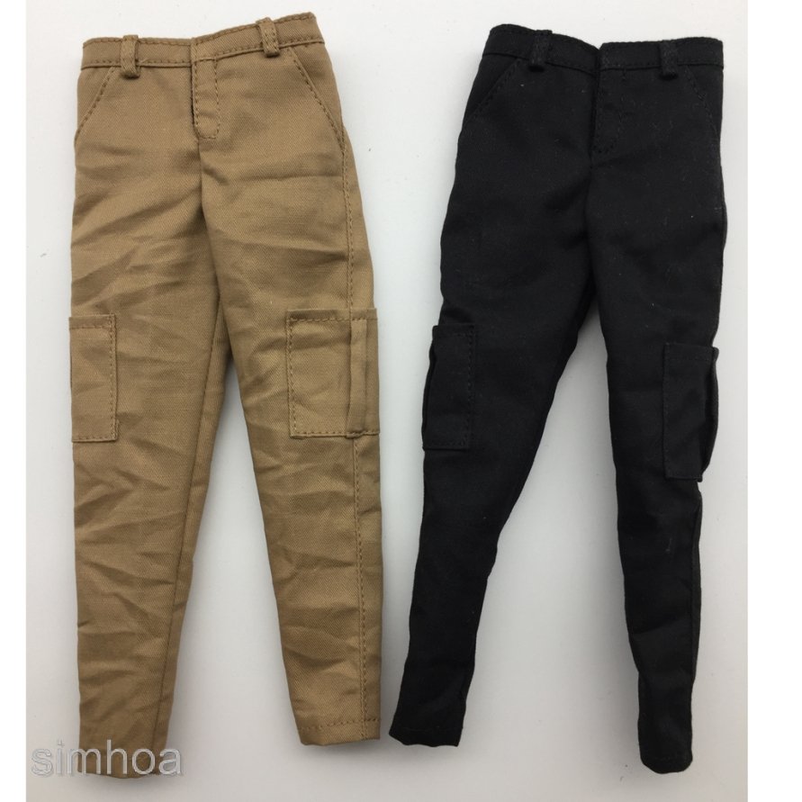 """1//6 Scale Male Trousers White for 12/"""" Hot Toys Figure Body"""