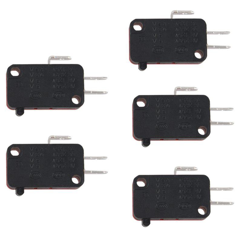 5pcs SPDT On//Off//On Mini Black 3 Pin Rocker Switch AC 6A//250V 10A//125 xh