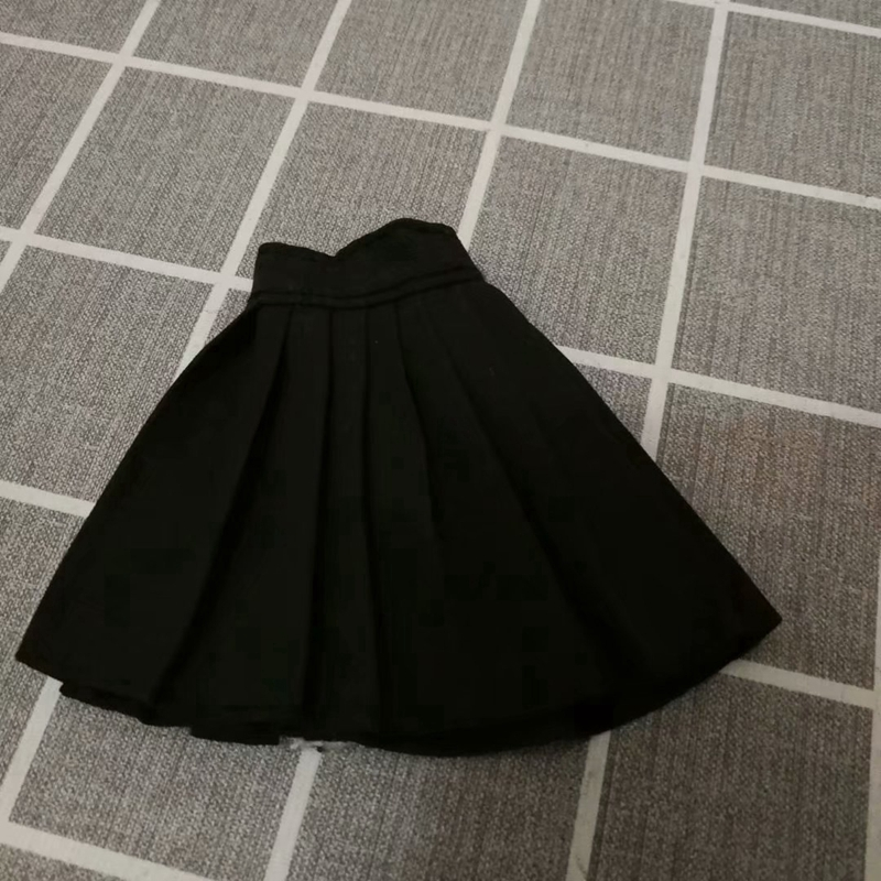 1//6 Woman Doll Pleated Skirt Short Dress for 12inch Action Figure Body Accs