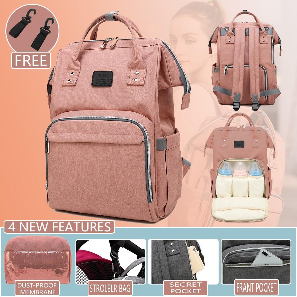 dd6eeb0f04 Upgraded Diaper Bag Backpack Baby Nappy Bag