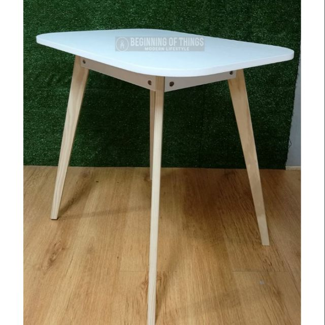 Sheldon Scandinavian Square White Dining Table 60x60 Shopee Philippines