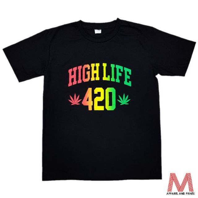 High Life 420 Marijuana T-Shirt