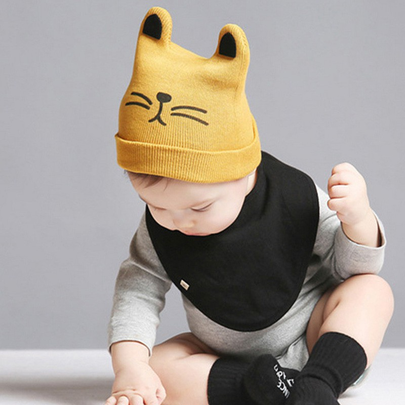 c00199efe Newborn Baby Girls Boys Warm Winter Cat Beanie Cap Hats | Shopee ...