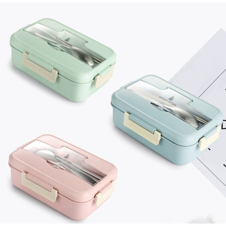 e59854f0c205 Wheat Straw Dinnerware Food Storage Container Lunch Box
