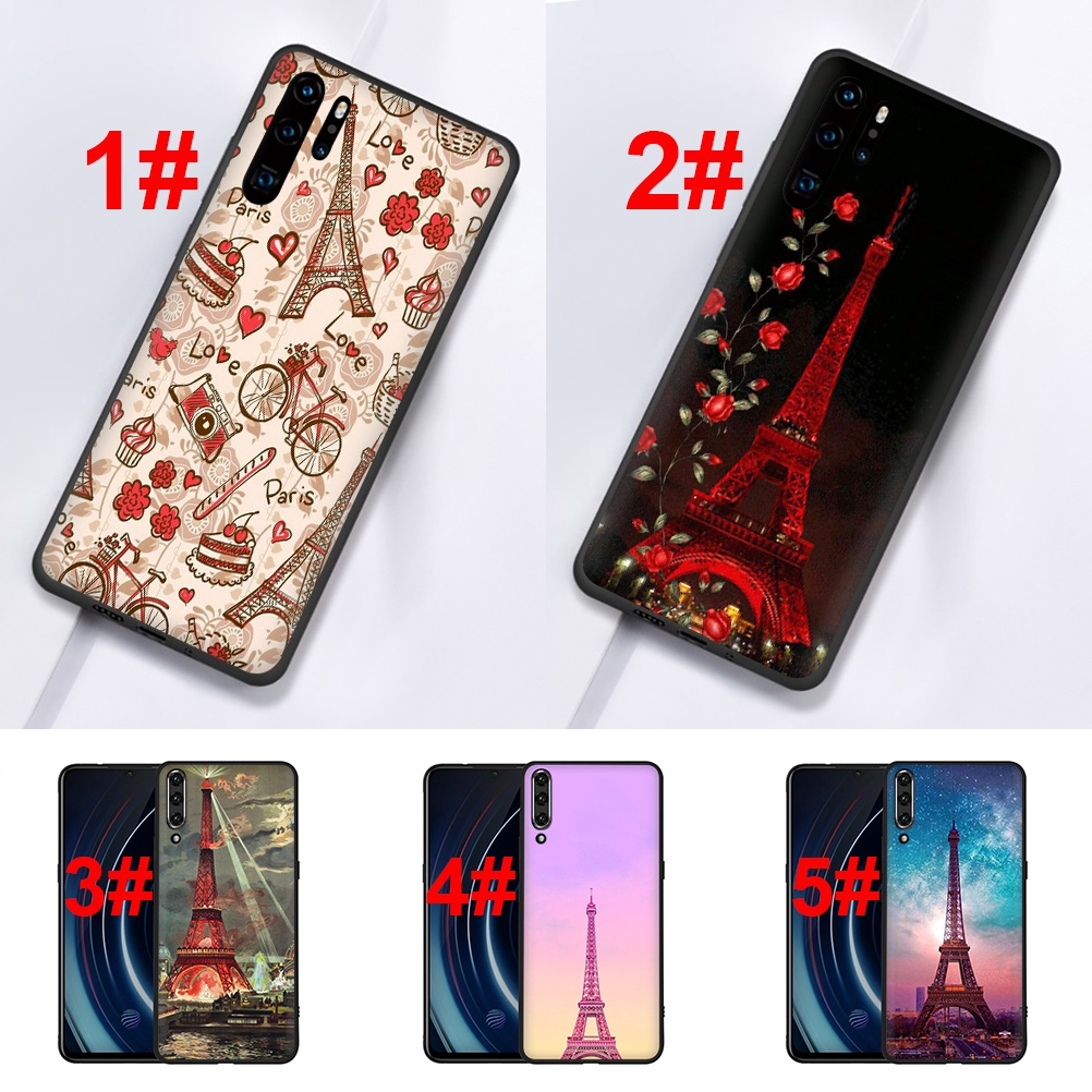 Case for Huawei P10 20 30 Pro P9 Lite Smart 106S Red Love Paris TPU Cover