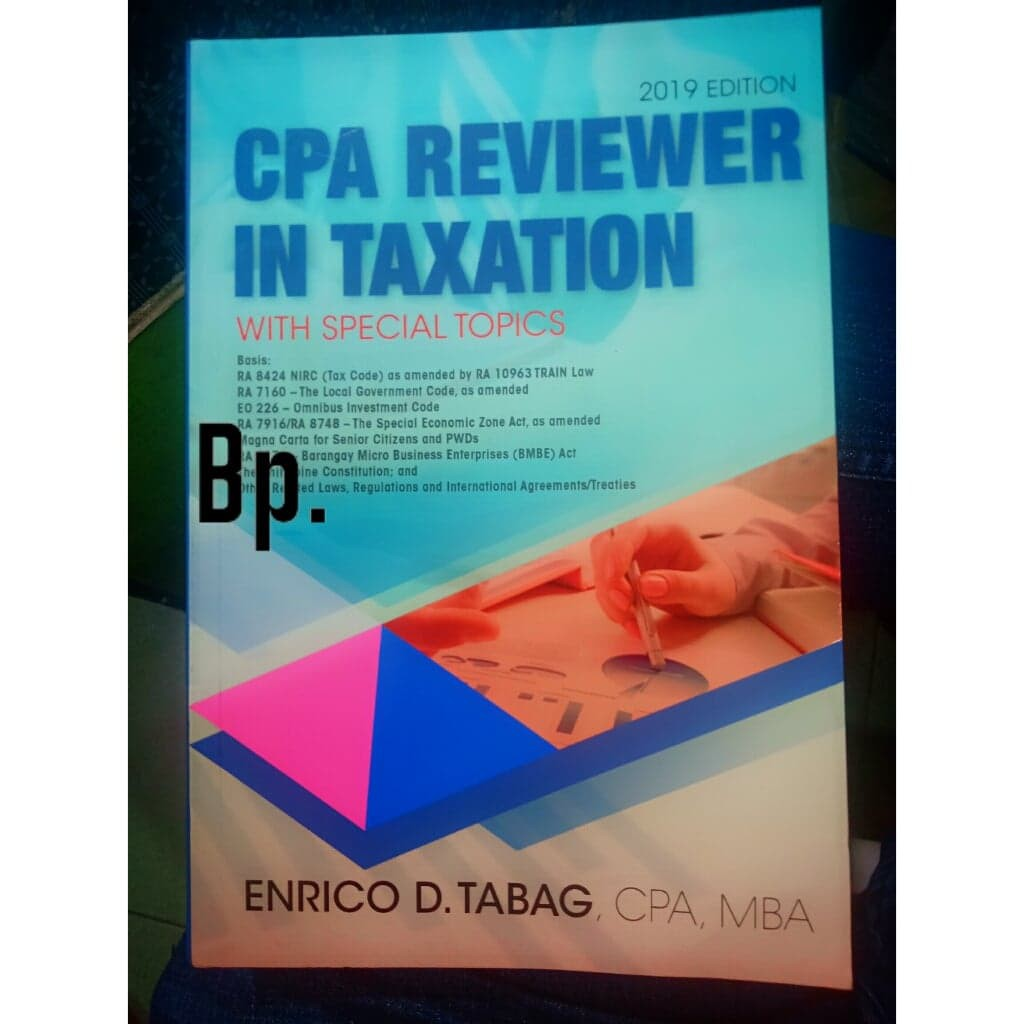 Original CPA Reviewer Taxation by Tabag