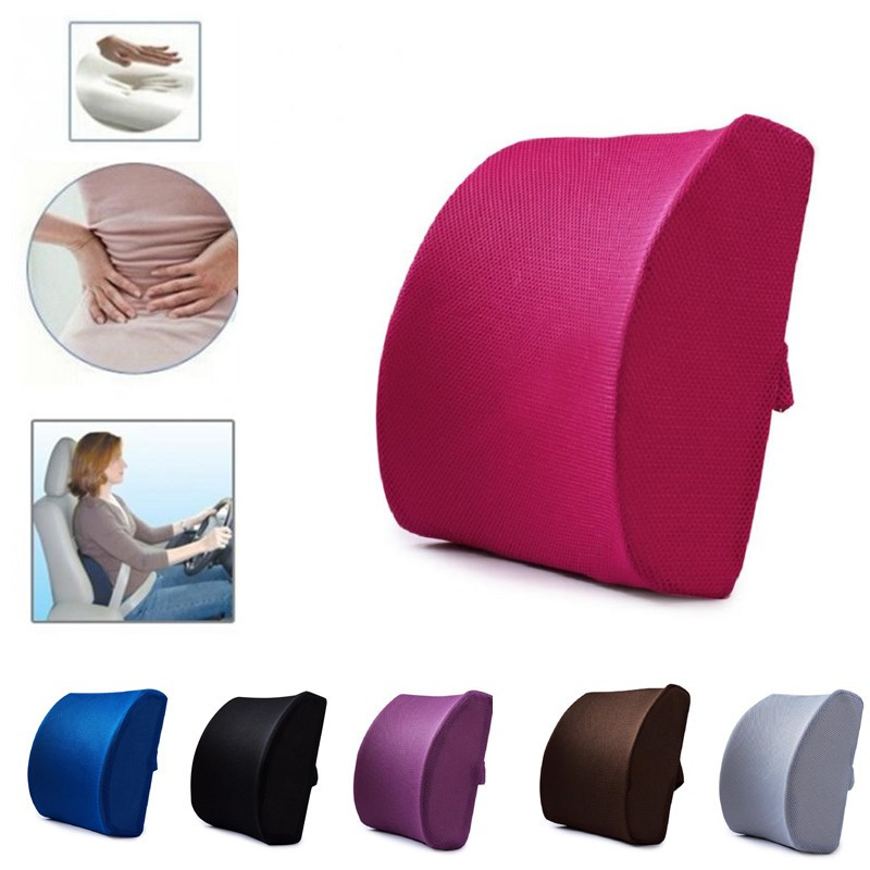 Lumbar Back Memory Foam Seat Chair Lumbar Back Support Cushion Pillow For Office Home Car Shopee Philippines