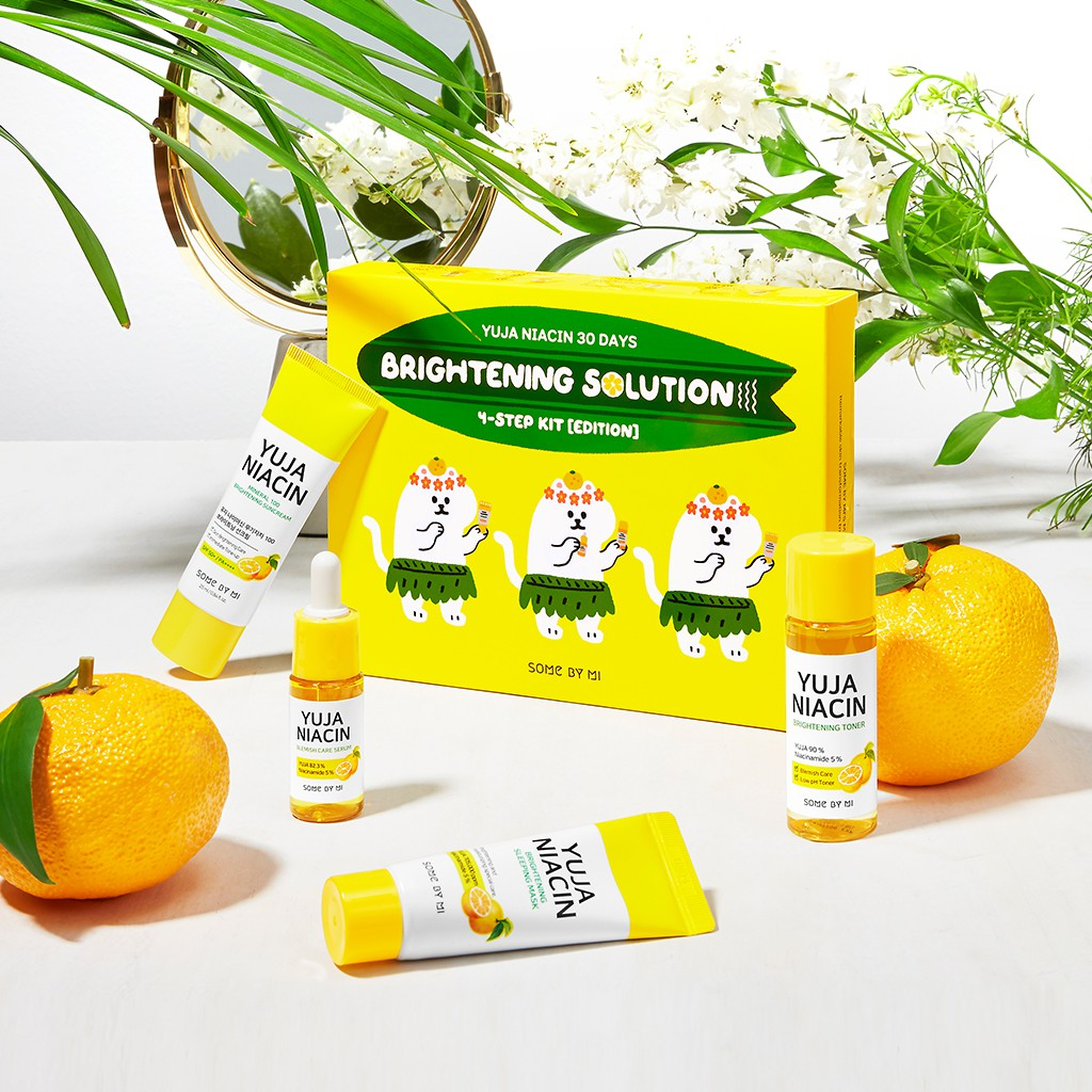 SOMEBYMI YUJA NIACIN 30 DAYS BRIGHTENING SOLUTION 4-STEP KIT | Shopee  Philippines