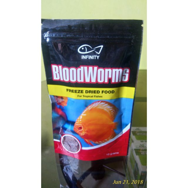 INFINITY BLOODWORMS FREEZE DRIED FOOD 10G