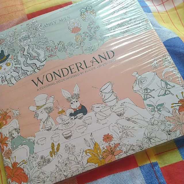 Alice In Wonderland Adult Coloring Book Shopee Philippines