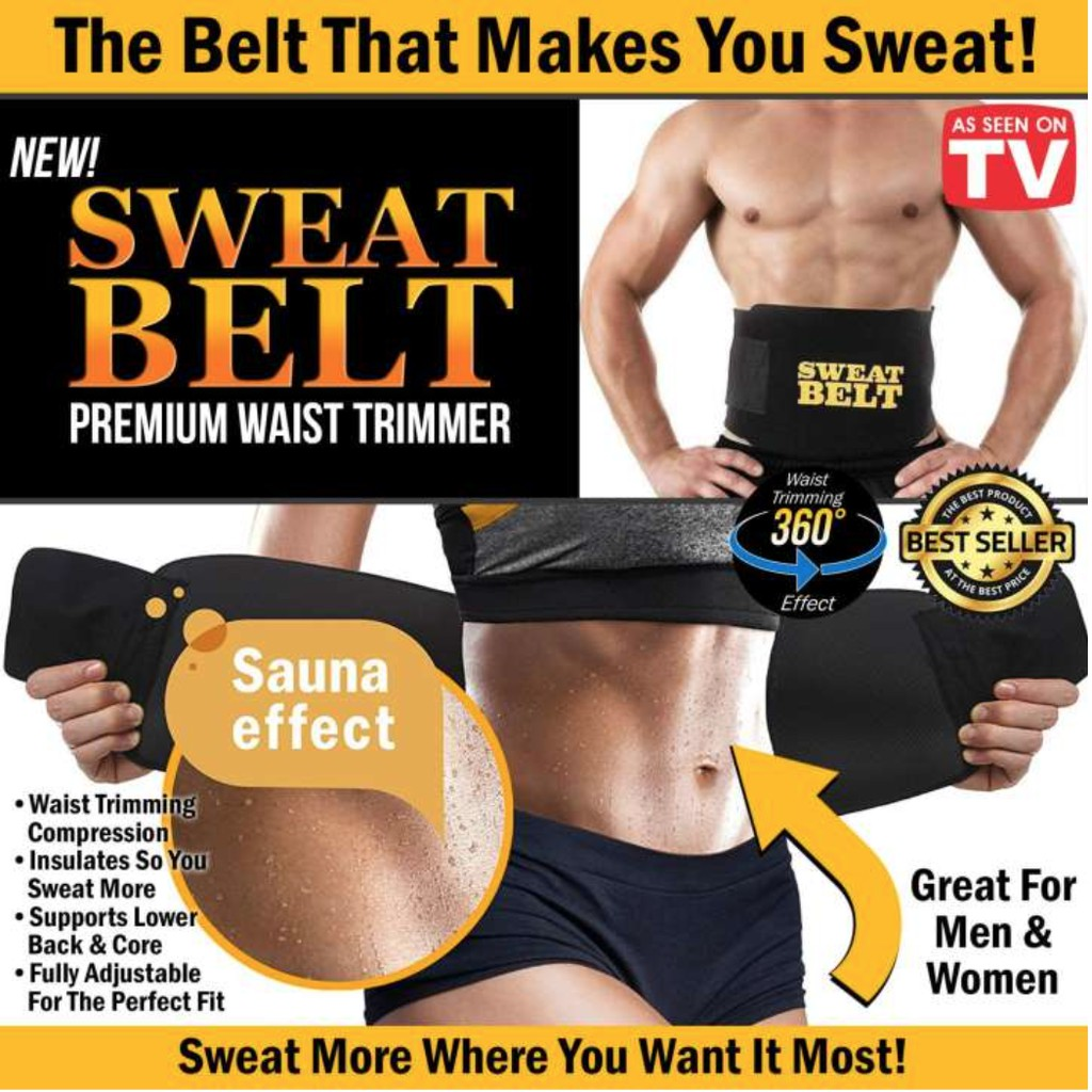 bf974690c9 COD Belt Waist Sweat Sauna Body Trainer Trimmer Shaper