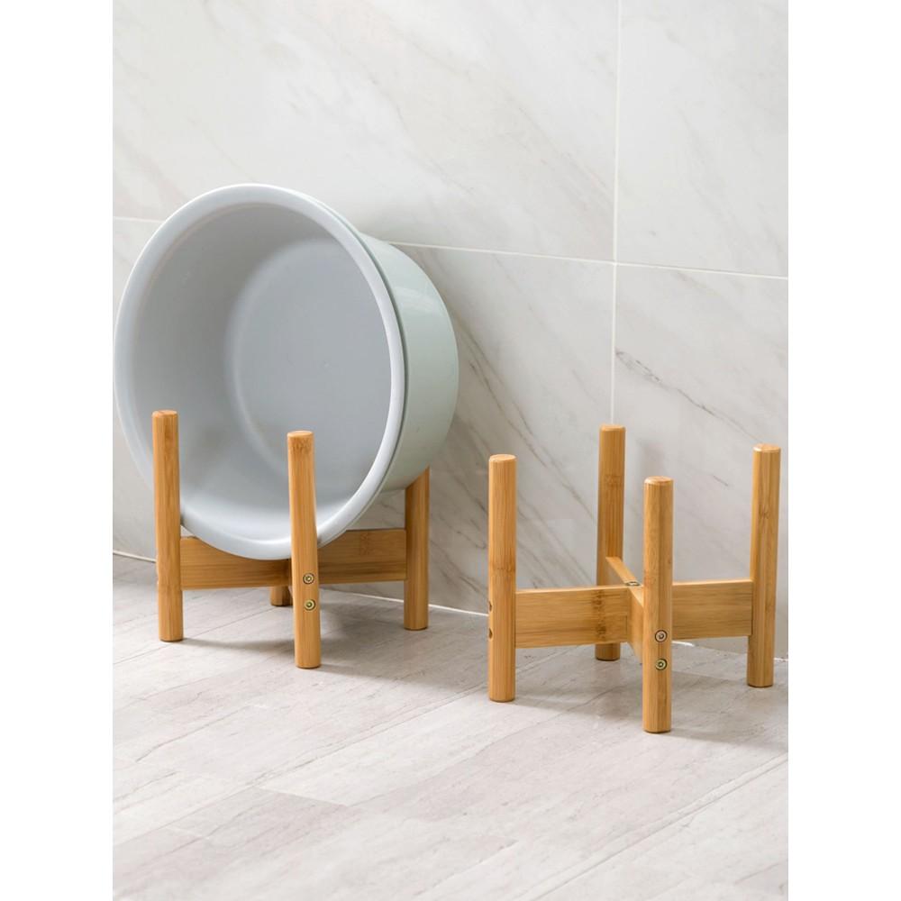 Bamboo Floor Sand Stone Washbasin