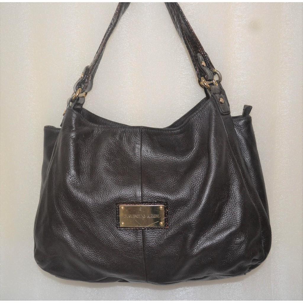 a13860a3a9 U.S. POLO ASSN Large Leather Bag