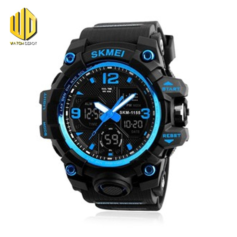 14da91b48fe7b SKMEI 1283 Original Men 3 Time Chrono Waterproof Sport Watch | Shopee  Philippines