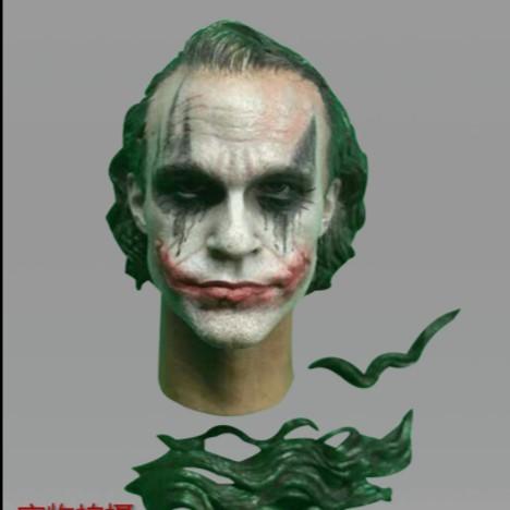 "1//6 Scale Joker Heath Ledger Head Sculpt Model For 12/"" Hot Toys Figure Body Doll"
