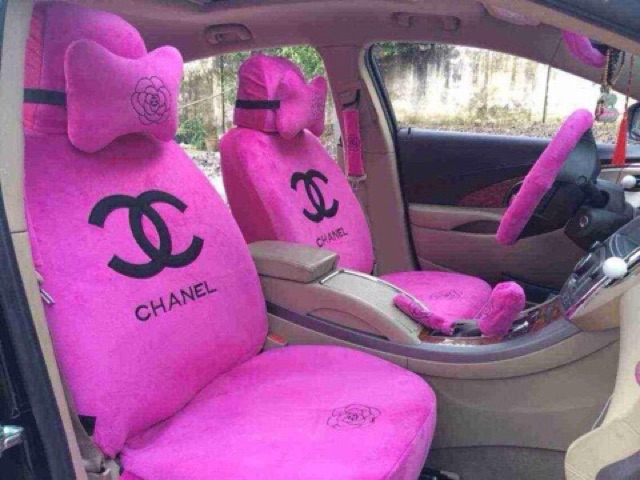 Surprising Car Seat Cover Set Lv Chanel Pdpeps Interior Chair Design Pdpepsorg