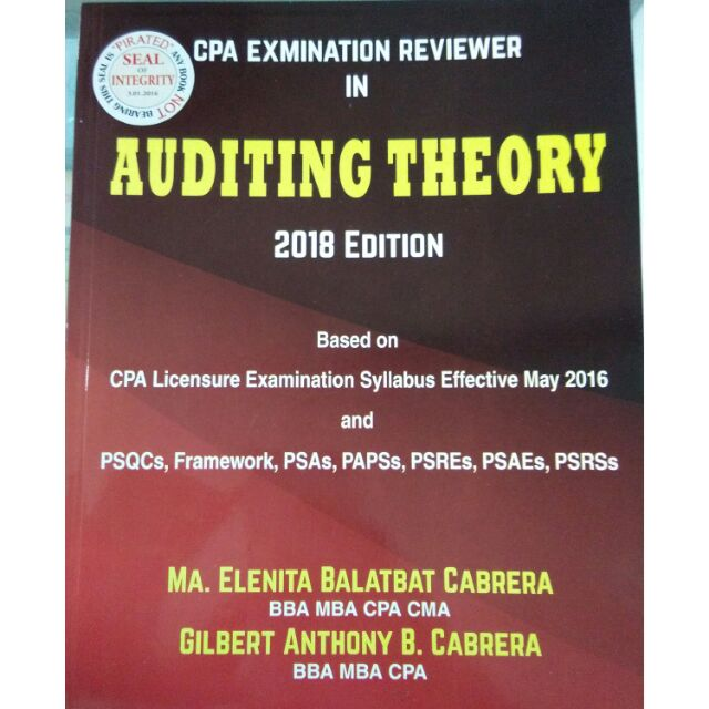 ORIG Auditing Theory Reviewer 2018ed by Cabrera