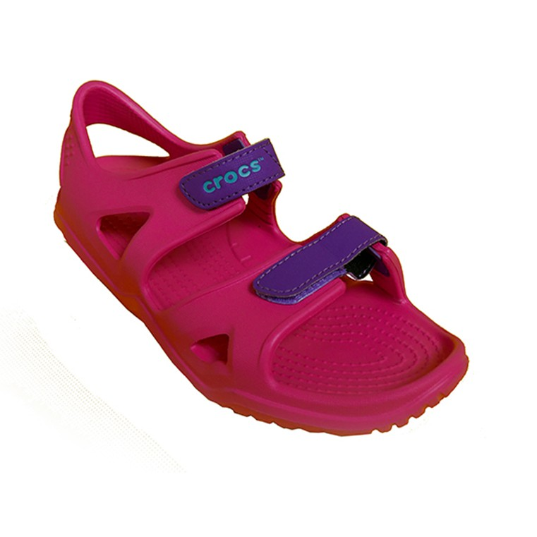 c23ce10972e2 Crocs Kids Swiftwater River Sandals (Pink Amethyst)