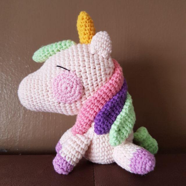 Sleeping unicorn pony crochet pattern | Crochet unicorn pattern ... | 640x640
