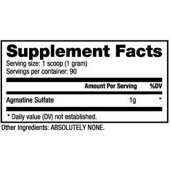 NutraBio Agmatine Sulfate Powder - 90g | Shopee Philippines