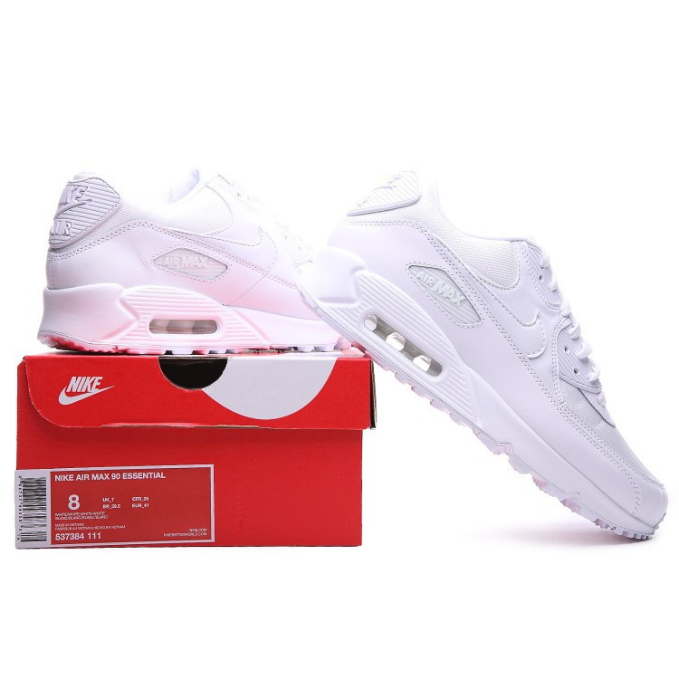Details about Nike Air Max 90 Essential Mens 537384 111 Triple White Running Shoes Size 12