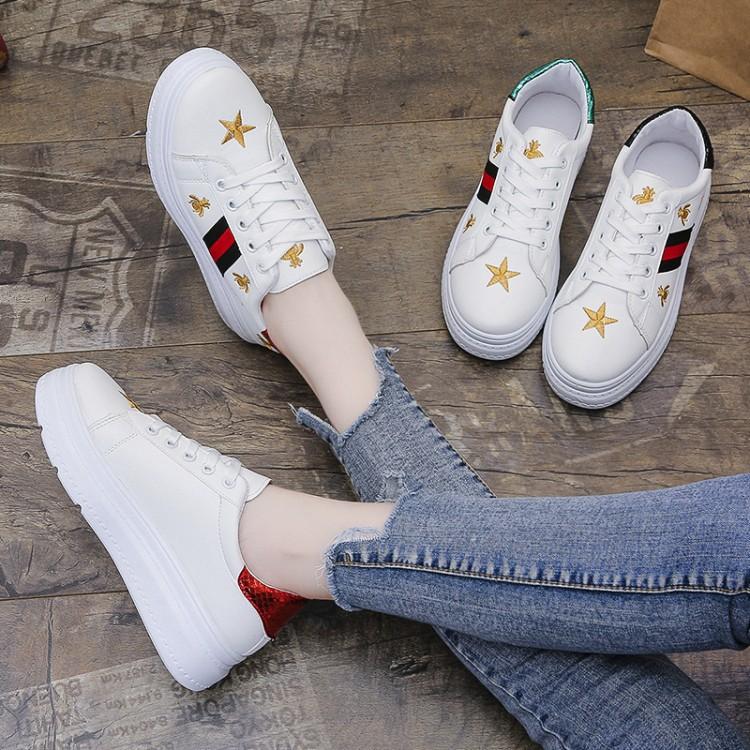 Korea Women Fashion Low Cut Rubber White Shoes SNeakers