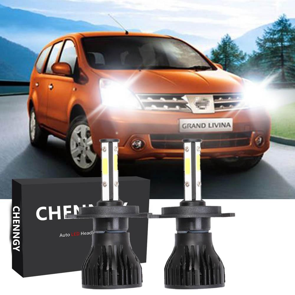 2PC X15 Bright 6000K 80W H4 LED Head Lamp Headlights for ...