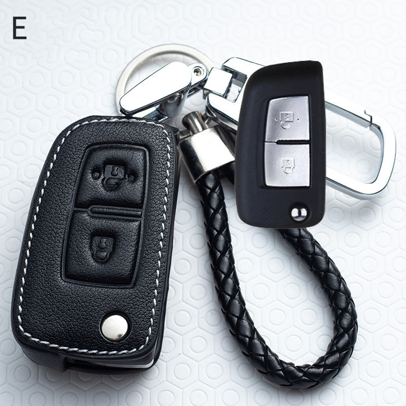Leather Car Key Cover Case For Nissan Qashqai J11 X trail ...