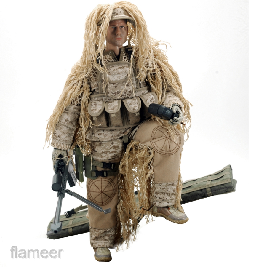"""1//6 Scale Desert Sniper Special Forces Soldier 12/"""" War Game Action Figures"""