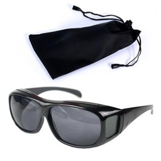 2e5f9e94e7fc HD Vision Black Wrap Around Night Driving Glasses and Pouch   Shopee  Philippines