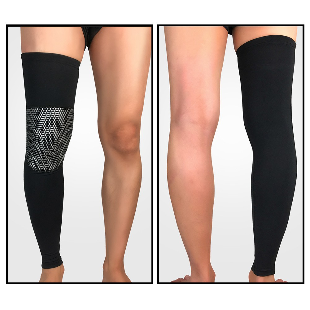 Sports Knee Pads Knee Brace Support Compression Sleeves Lengthened Breathable Thigh Calf Protection Leg Foot Support Basketball Football Climbing Protective Gear Impact Kneepad