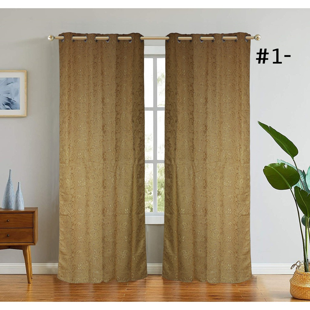 1set (2pcs) Curtain Brocade with Ring