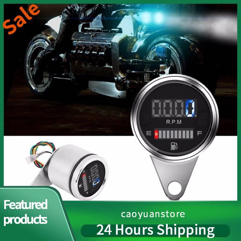 2 in 1 Motorcycle Digital LED Speedometer Oil Fuel Gauge