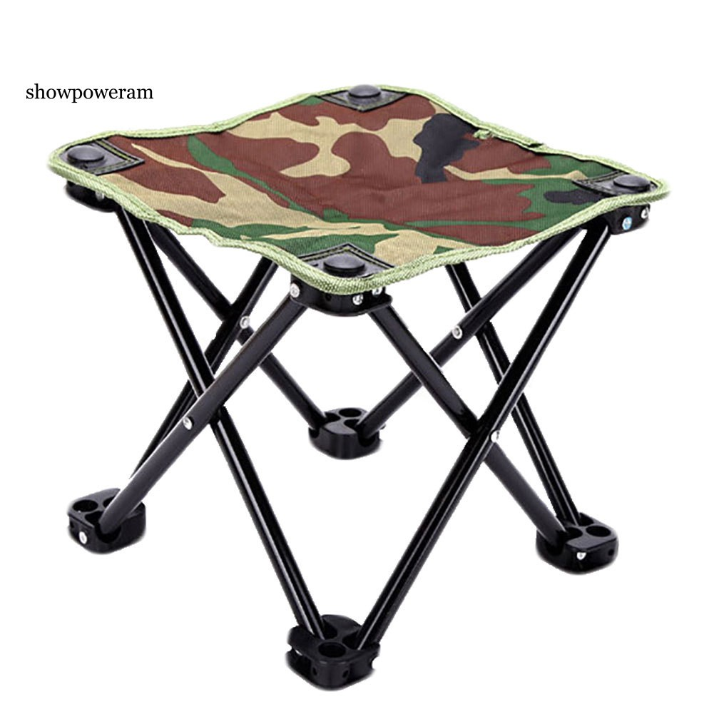 Terrific Spam Camouflage Portable Outdoor Camping Fishing Canvas Metal Folding Stool Chair Pdpeps Interior Chair Design Pdpepsorg