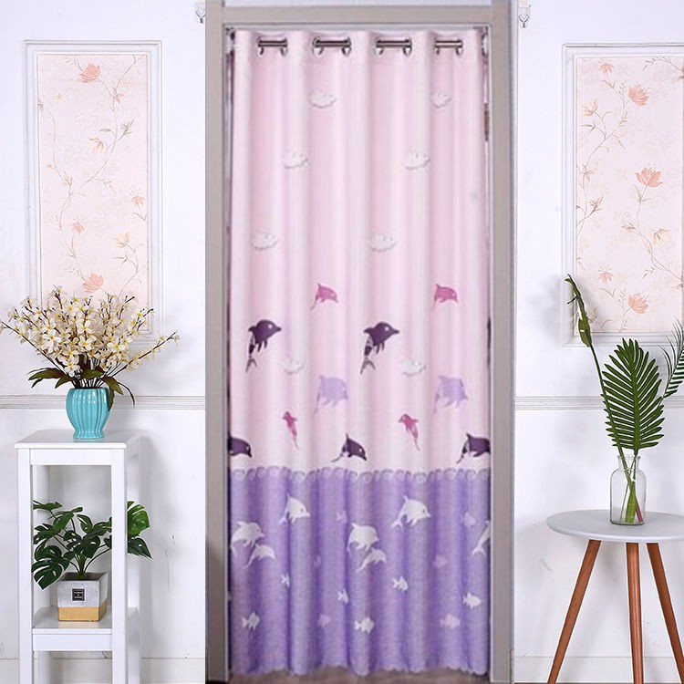 Free Punch Double-sided Long Curtain Fabric | Shopee Philippines