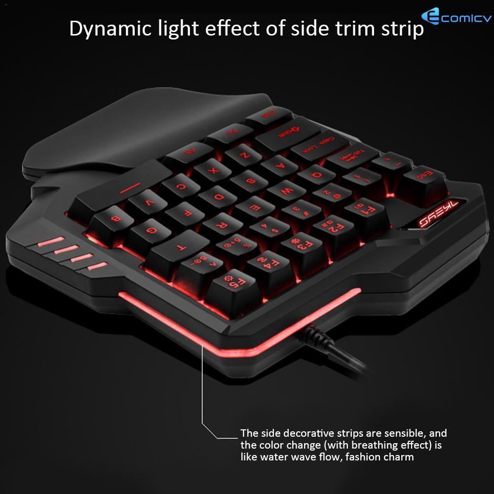 One Handed Mechanical Keyboard Left Hand Game Keypad P