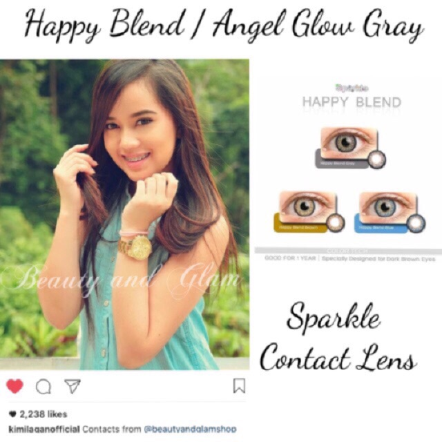 sparkle contact lens color essentials 14 2mm shopee philippines