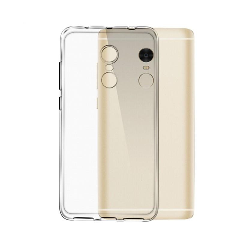 pretty nice 28bba c3ec2 TPU Soft Phone Case Clear Cover for Xiaomi Redmi Note 4