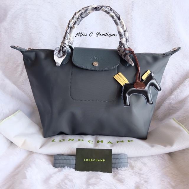 5201dbf55934 Original Longchamp Le Pliage Neo Medium Short Handle Bilberry ...