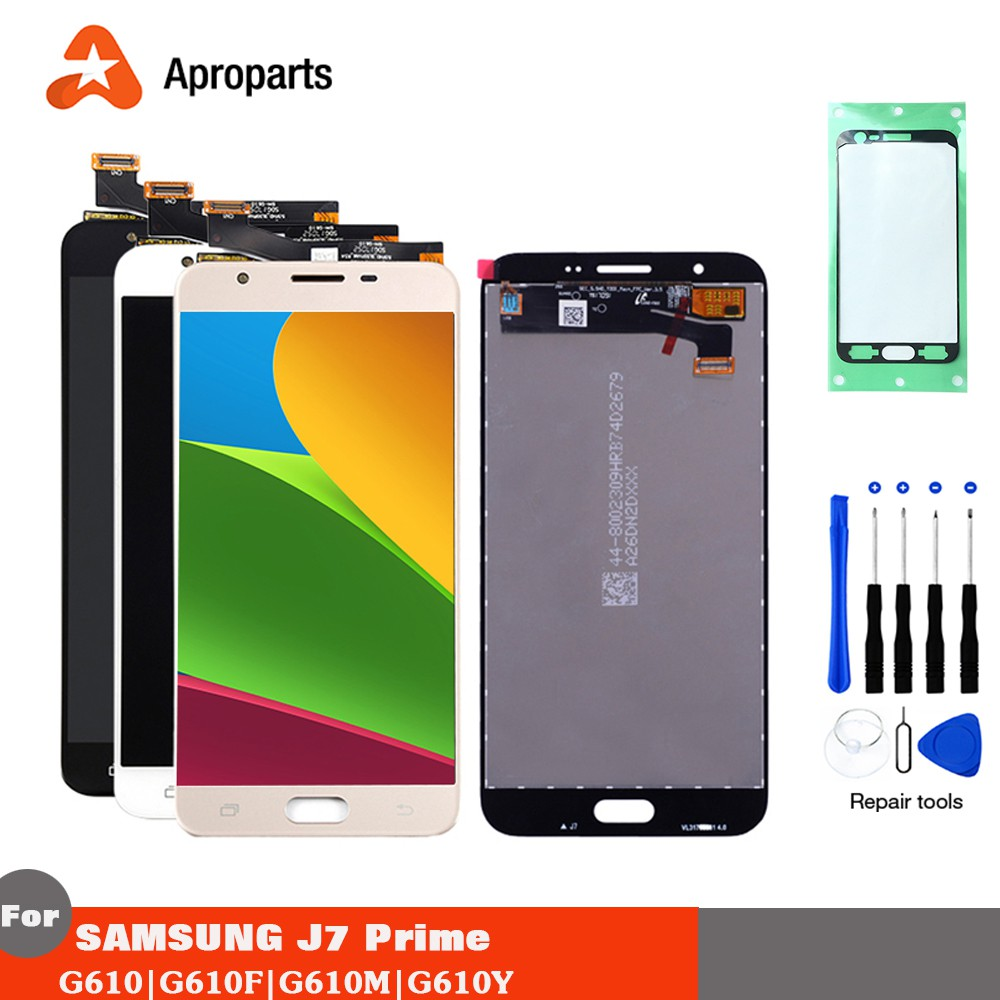 AMOLED Screen for Samsung Galaxy J7 Prime G610 SM-G610M G610F G610Y LCD  Display Touch Screen Panel