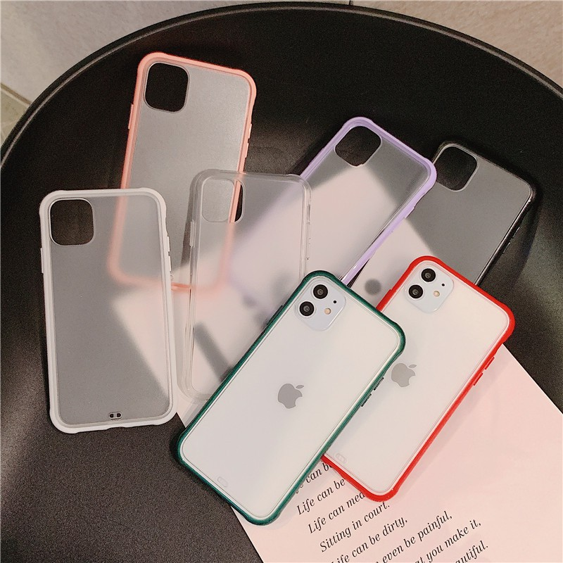 iPhone 11 pro max 6 S 6s 7 8 Plus 7+ 8+ Case Cover matte Hard Back Soft Silicone Rubber Edge Casing