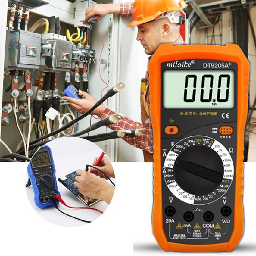 DT9205A Digital Multimeter Tester Handy Ammeter Tester LCD | Shopee