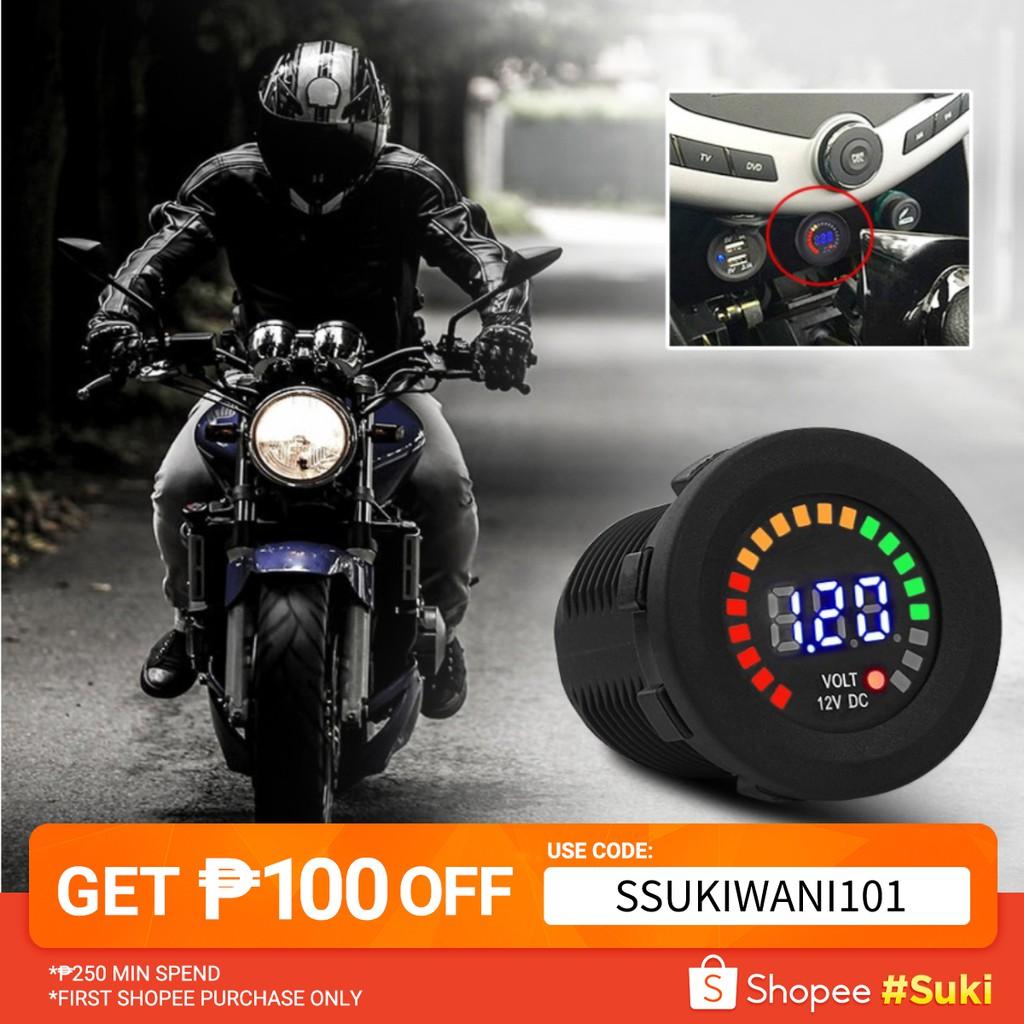 12 V Motorcycle Car LED Digital Display Motorcycle Voltmeter